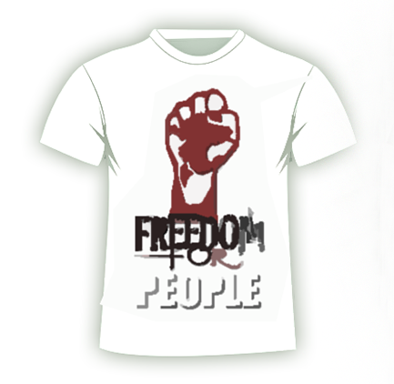 Freedom for People T-Shirt weiß-image